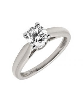 14K White Gold Solitaire Bridal Engagement Ring 1ct