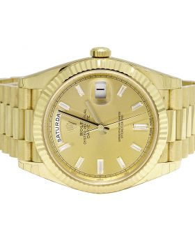 Rolex 18K Yellow Gold 40MM Day-Date II 228238 President Watch