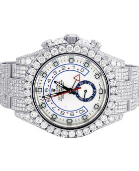 Rolex Yacht-Master II Chrono 116680 Diamond Watch 22.75 Ct