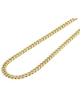 """Yellow Gold Miami Cuban Link Diamond Necklace 7MM 11.5CT 24"""""""