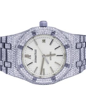 Audemars Piguet Royal Oak 39MM Steel VS Diamond Watch 25.75 Ct
