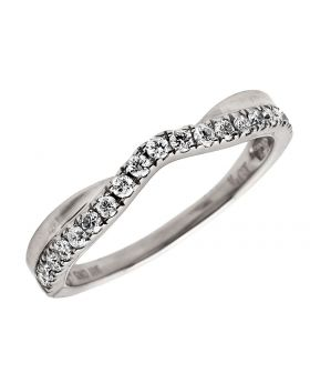 10K White Gold Genuine Round Diamond Solitaire Engagement Ring 0.25 ct