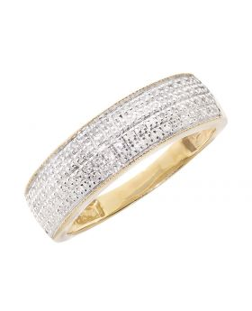 Mens Pave Band with Milgrain Edges (0.50 ct)