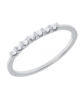 Ladies Shared Prong Band in White Gold (0.25 ct)