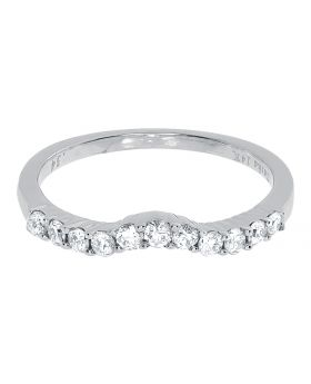 Womens Engagement Ring Enhancer Band in 14k White Gold (0.12 ct)