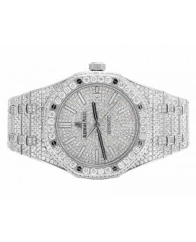 Mens 41 MM Audemars Piguet Royal Oak Stainless Steel with VS diamond (22.5 Ct)