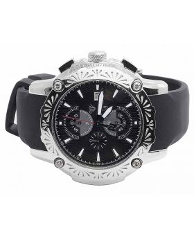 Aqua Master Stainless Steel Nicky Jam El Russo Diamond Watch W#NJ105 0.40 Ct