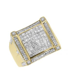 14k Solid Gold Princess Diamond Pinky Ring (2.5 ct)