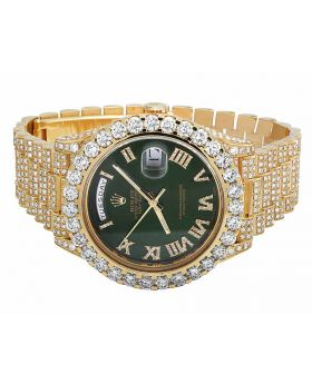 18k Yellow Gold Rolex Day-Date 2 228238 President with 22.5 Ct Diamond