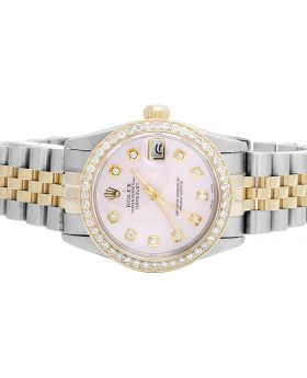 Rolex Datejust 18K 2 Tone Mid Size 31MM Diamond Watch (2.0 Ct)