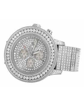 Custom Breitling Super Avenger 53 MM Diamond Watch (34 Ct)