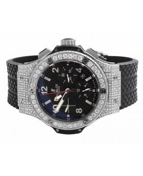 Mens 44 MM Hublot Big Bang Carbon Fiber Steel 301.SB.131.RX with Diamonds 10.5 Ct