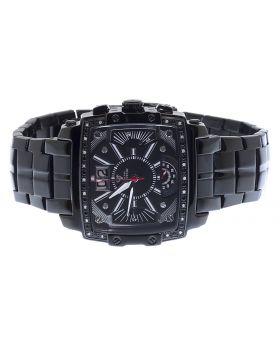 Mens Aqua Master Joe Rodeo Jojo 43mm Black PVD Watch 0.24ct