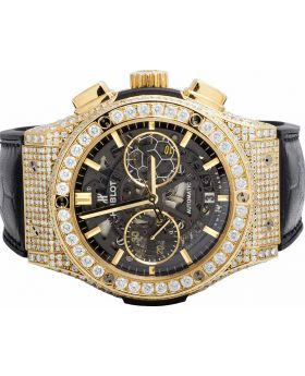 Mens 45 MM Hublot Classic Fusion 18k Yellow Gold with VS diamond (10.5 Ct)