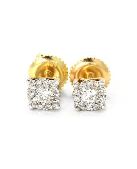 Round Cut 5 MM Studs in 14K Yellow Gold (0.25 Ct)