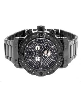 Aqua Master W#146 Black Stainless Steel Genuine Diamond Watch 0.25 Ct