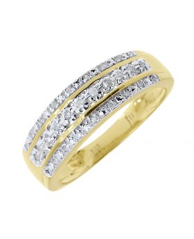Three Row 6mm Round Diamond Band (0.25 ct)