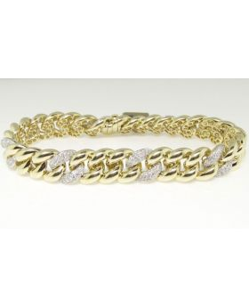 Miami Cuban Link Diamond Bracelet in 10K Yellow Gold (5.0 Ct)