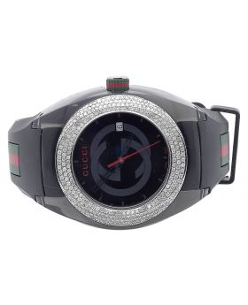 Mens Analog Gucci Sync Diamond Watch YA137101 (3.5 Ct)