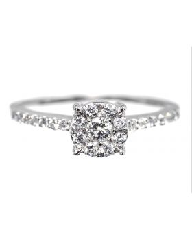 Cluster Diamond Engagement Ring (0.50 ct)