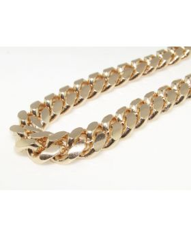 Rose Gold Miami Cuban Chain in Sterling Silver 9 mm