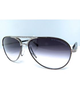 Dita Aviator Sunglasses Custom Set with Diamonds (1.85 Ct)