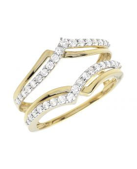 Ladies Diamond Ring Wrap Enhancer 10K Yellow Gold 0.47 Ct