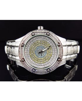 Techno com b KC Stainless Steel Diamond Luxury Watch (5.0ct.)