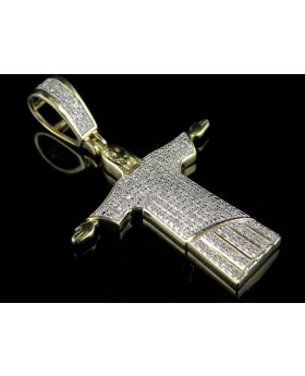 "10K Yellow Gold Jesus ""Christ the Redeemer"" Diamond Pendant Charm 0.5ct"