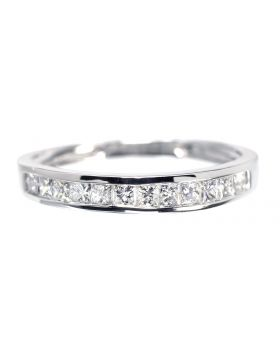 Princess Diamond Band in White Gold (0.50ct)