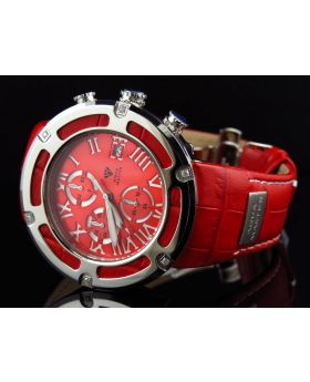 Aqua Master W#346 El Russo Red Cutout Diamond Watch 46 MM (.20 Ct)