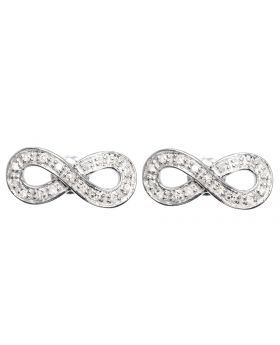 Infinity Earrings in White Gold (0.25 ct)