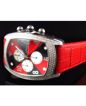 Aqua Master Red and Black W#42 Bubble Diamond Watch (2.5 Ct)