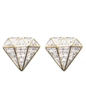 Diamond Shape Earrings in Yellow Gold (0.20 ct)