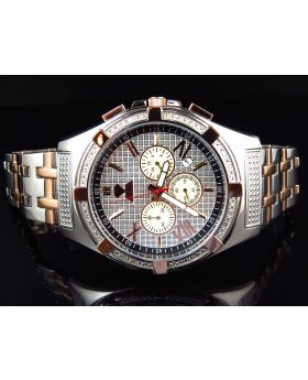 Aqua Master Rose Gold/Steel W#348 Diamond Watch (.25 Ct)
