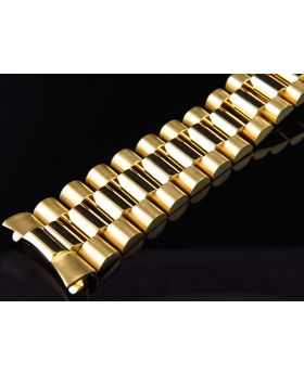 14k Yellow Gold President Band for Rolex