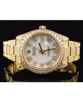 Rolex Datejust 2 with Custom 17.5 ct Diamonds 116300