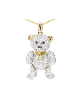 Teddy Bear Pendant with Diamonds (2.0 ct)