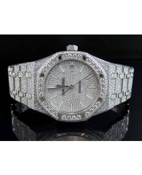 Mens 41 MM Audemars Piguet Royal Oak Stainless Steel with VS diamond (18.5 Ct)