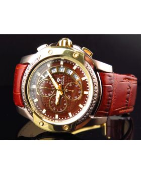 Mens Aqua Master Bronze Gold Finish 2 Tone Diamond Watch 0.25 Ct