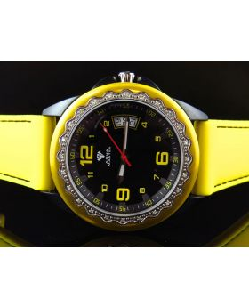 Mens Aqua Master Black Yellow 2 Tone Diamond Watch 0.25 Ct
