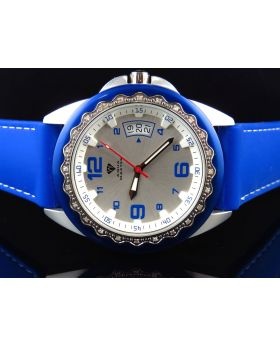 Mens Aqua Master Royal Blue 2 Tone Diamond Watch 0.25 Ct