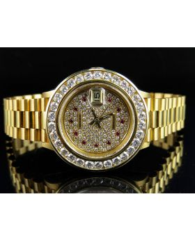 18K Ladies Yellow Gold Rolex 69178 Presidential Datejust with 4.5 Ct Diamond