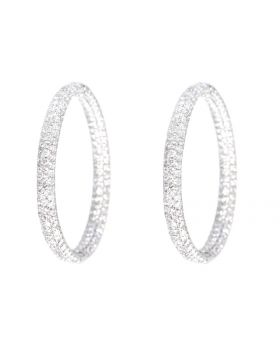 XL In/Out Diamond Hoops (4.25 ct)