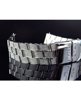 Custom Breitling Super Avenger Diamond Band (7.0ct)