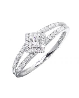 Princess Solitaire Ring in Diamond Shape (0.35 ct)