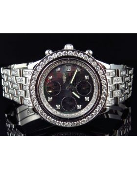 Custom Breitling Chronomat 41MM Diamond Watch (9.5 Ct)
