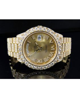 18k Yellow Gold Rolex Day-Date 2 228238 President with 30.5 Ct Diamond