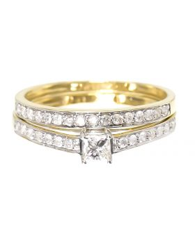 Princess Solitaire Engagement Ring in Yellow (0.52 ct)