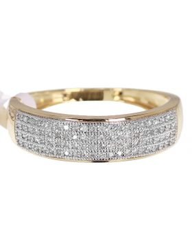 Mens Genuine Diamond Ring in Yellow Gold 0.40 ct